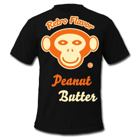 Retro Flavor – Peanut Butter – Men's Black Tee